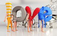 3D Love 14 Background Wallpaper