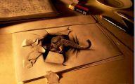 3D Love Drawing 14 Wide Wallpaper