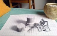 3D Love Drawing 26 Wide Wallpaper