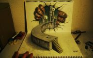 3D Love Drawing 27 Cool Wallpaper