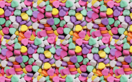 Love Hearts Candy 25 Background