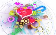 3D Love Birds 12 Background Wallpaper
