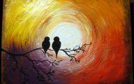 3D Love Birds  2 Background Wallpaper