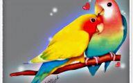 3D Love Birds 5 Desktop Wallpaper