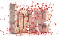 3D Love Cards  2 Wide Wallpaper