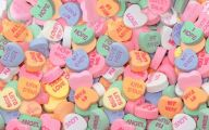 Valentine's Candy Hearts  6 Background Wallpaper