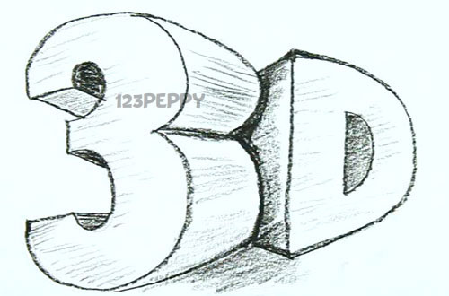 Поэтапное рисование 3д рисунка