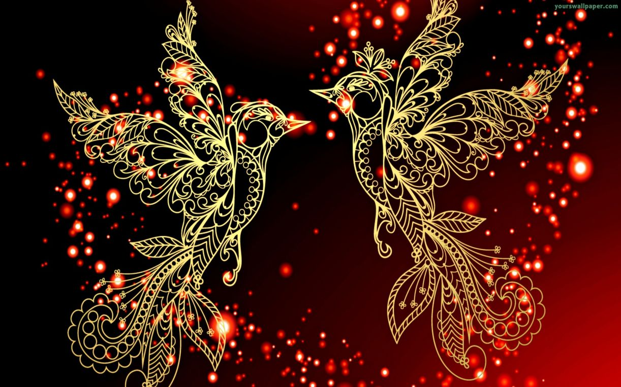 3d Love Birds HD Wallpaper