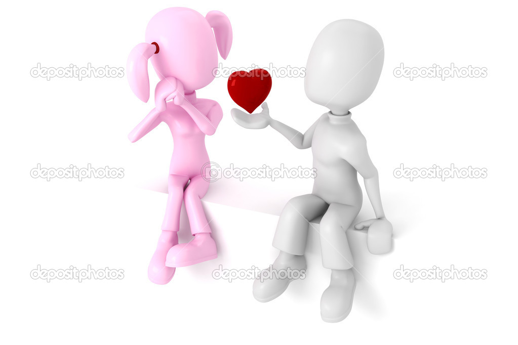 3d love couple images HD wallpaper - 3D Love