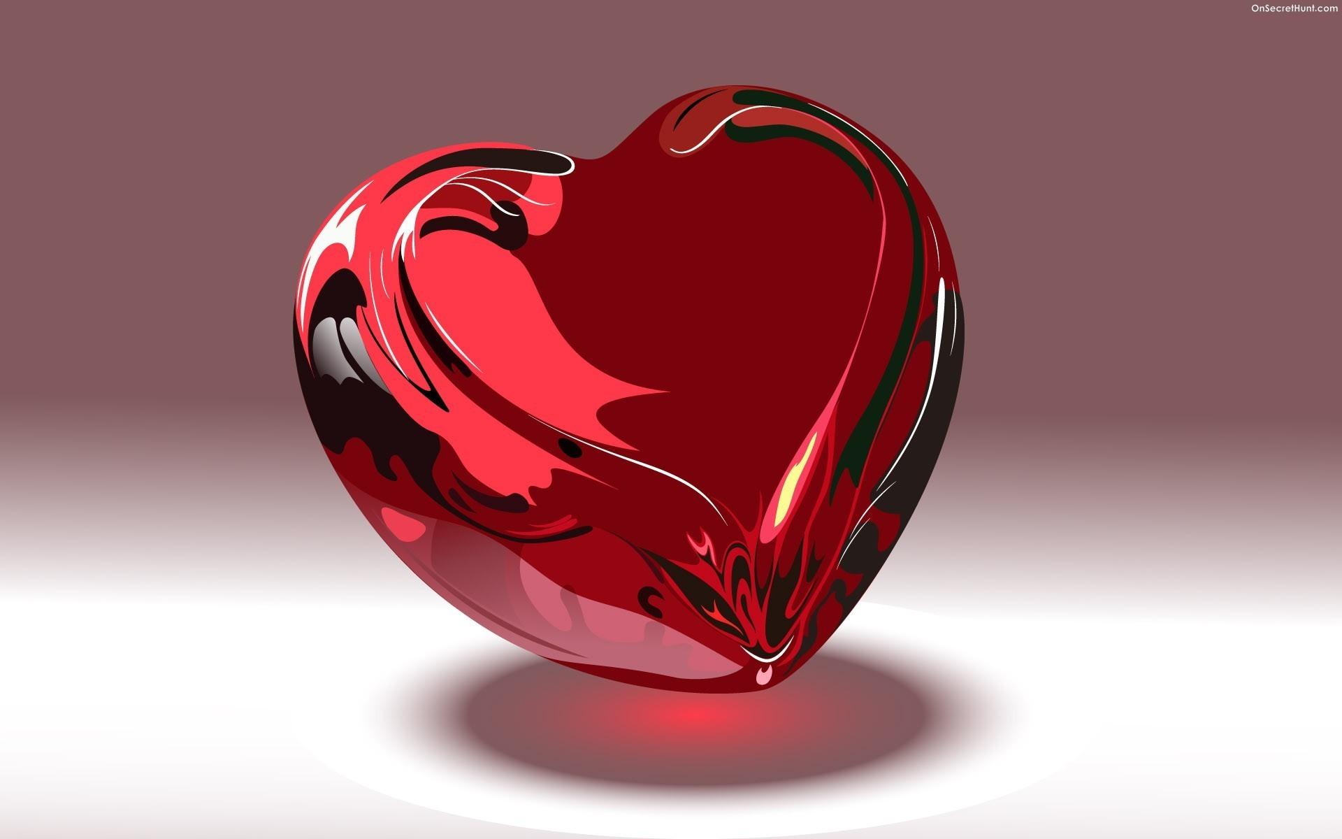 3D Love Heart 10 Free Wallpaper