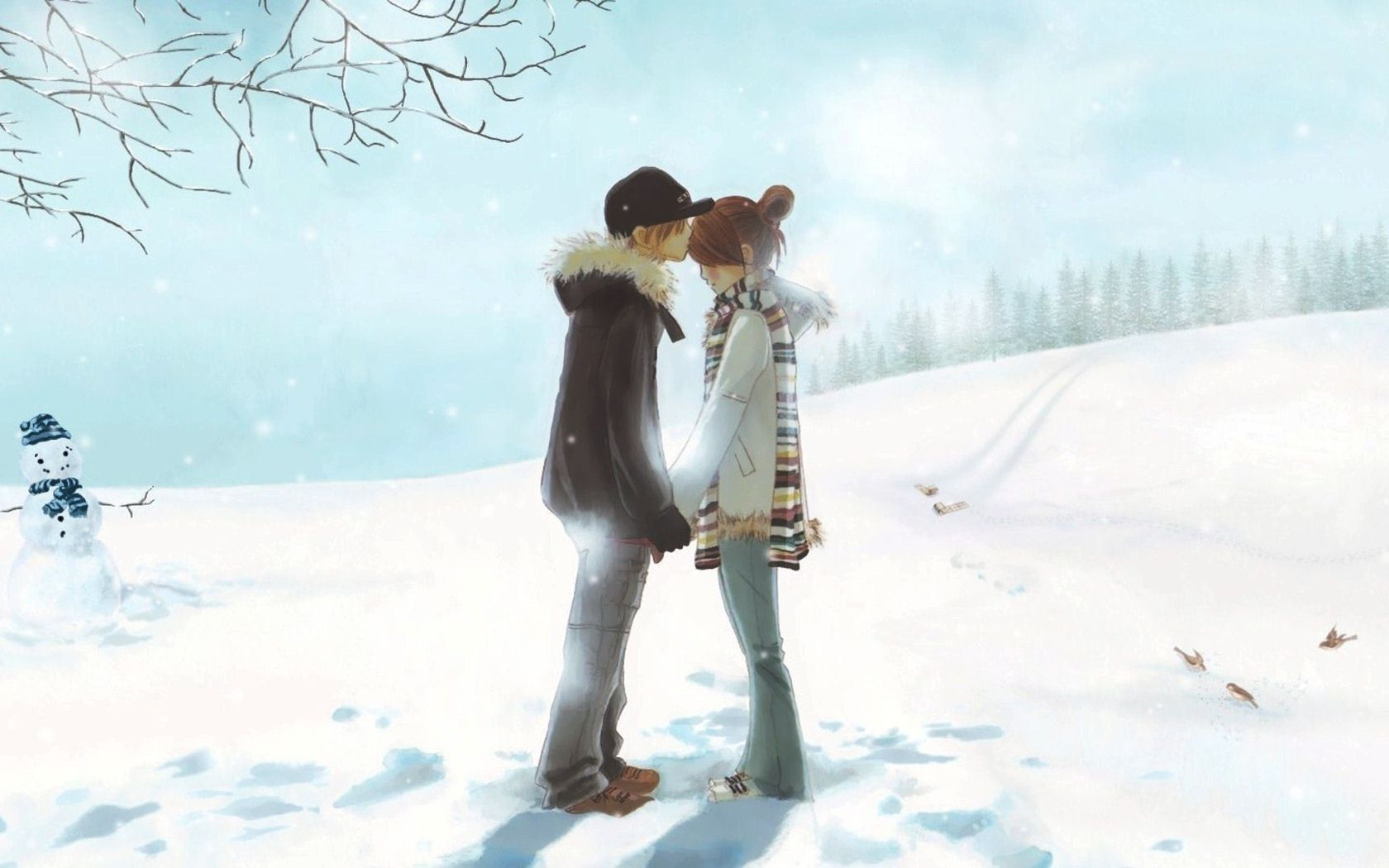 Love couple Animated Wallpaper Hd : cute Love Anime 5 Hd Wallpaper - Hdlovewall.com