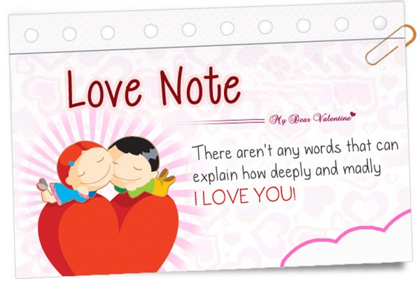 Cute Love Notes  16 Wide Wallpaper