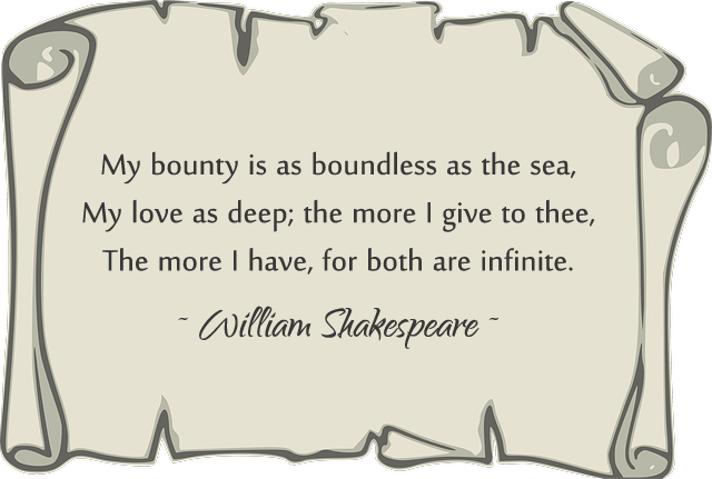 the language of love in shakespeare