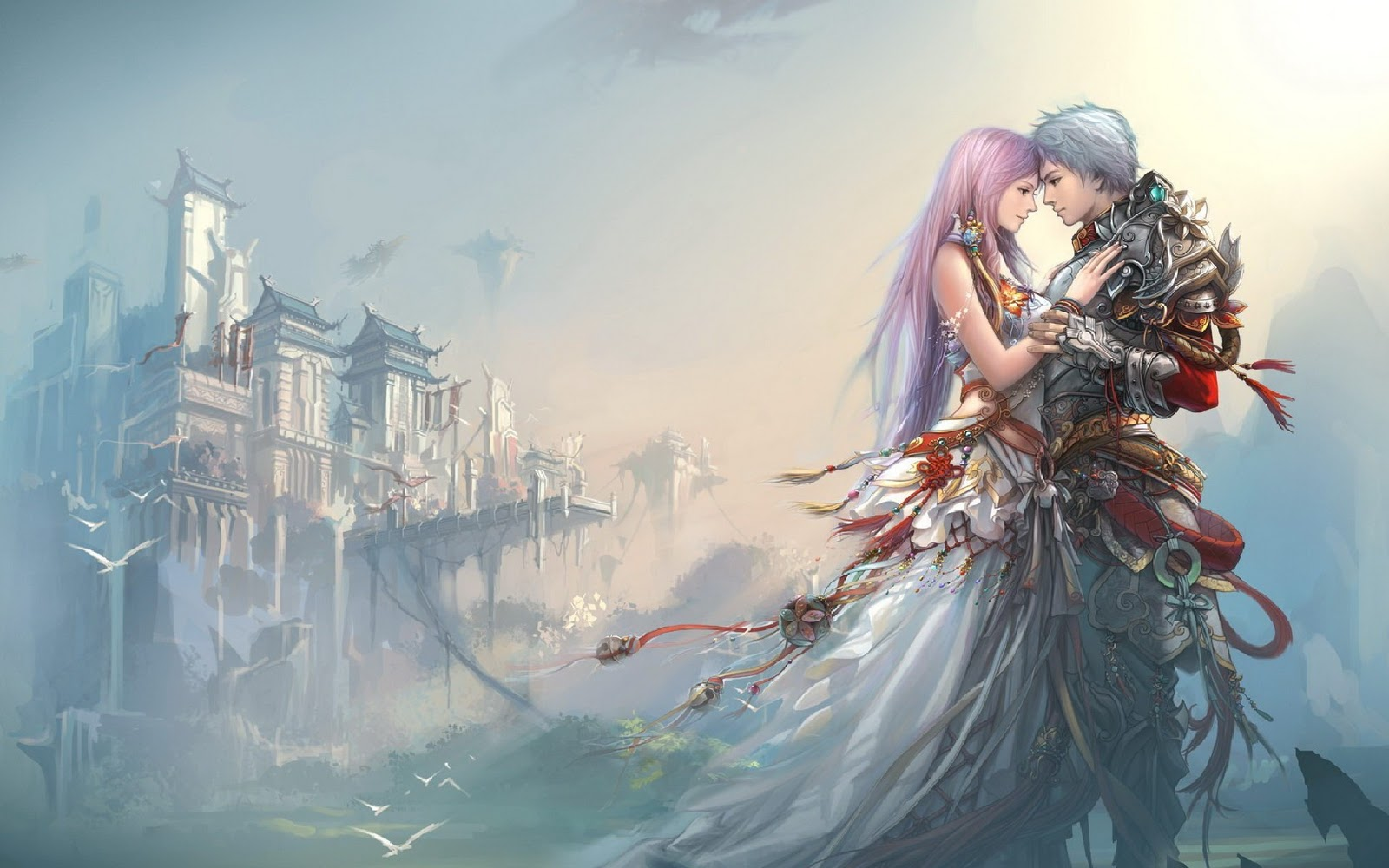 Desktop Wallpaper Romantic Love : Romance Love Anime 11 Desktop Background - Hdlovewall.com