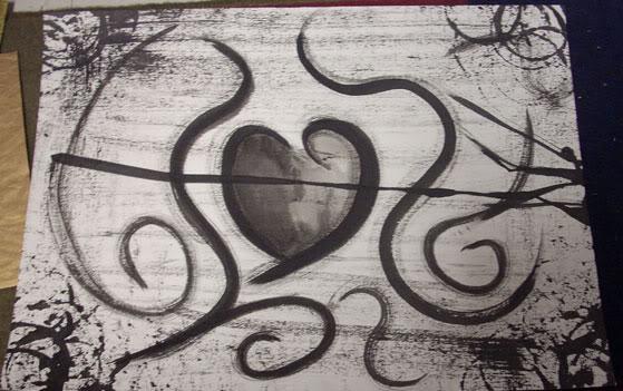 Romantic love drawing