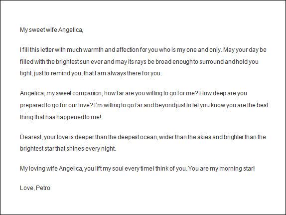 Doc694938 Romantic Love Letters Samples Love Letter Samples – Sample Love Letter