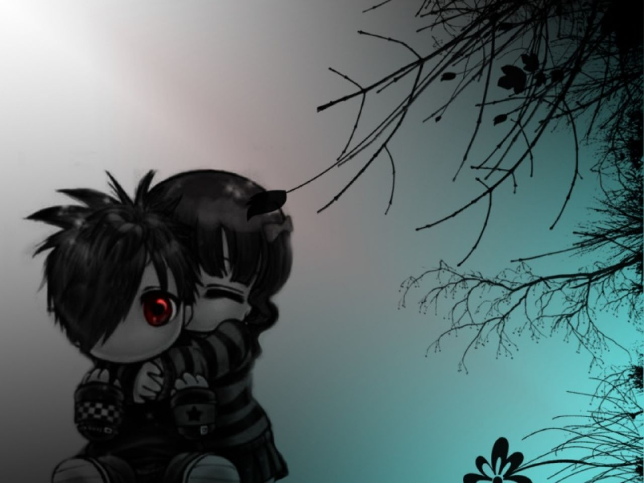 Wallpaper Emo Love couple : Sad Love Anime 32 Free Wallpaper - Hdlovewall.com