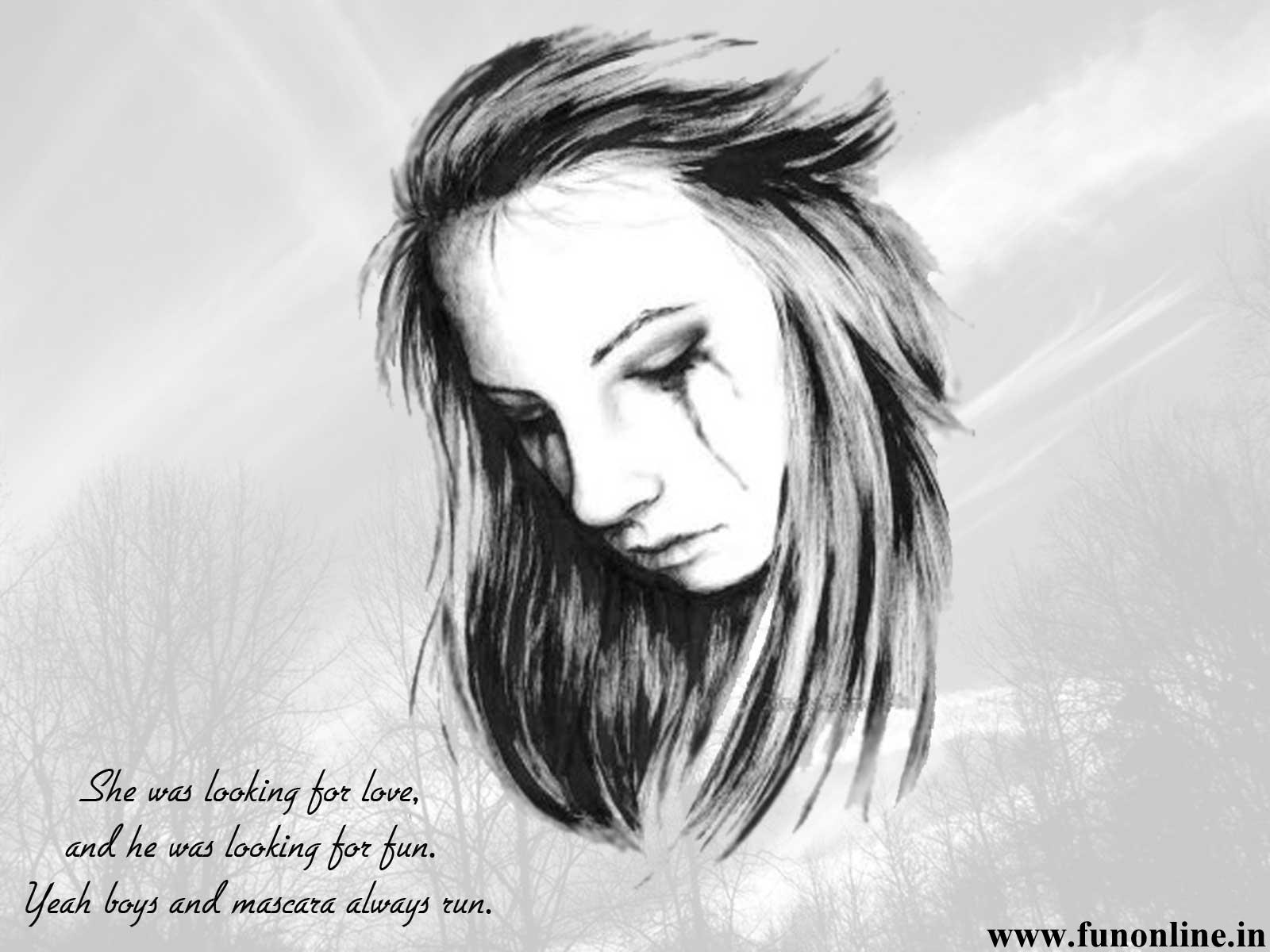 Love Wallpaper In Drawing : Sad Love Drawings 18 Widescreen Wallpaper - Hdlovewall.com
