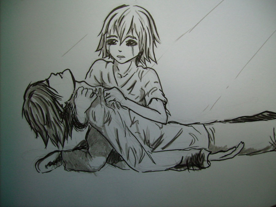 Sad Love Anime Drawings www.imgkid.com - The Image Kid Has It!
