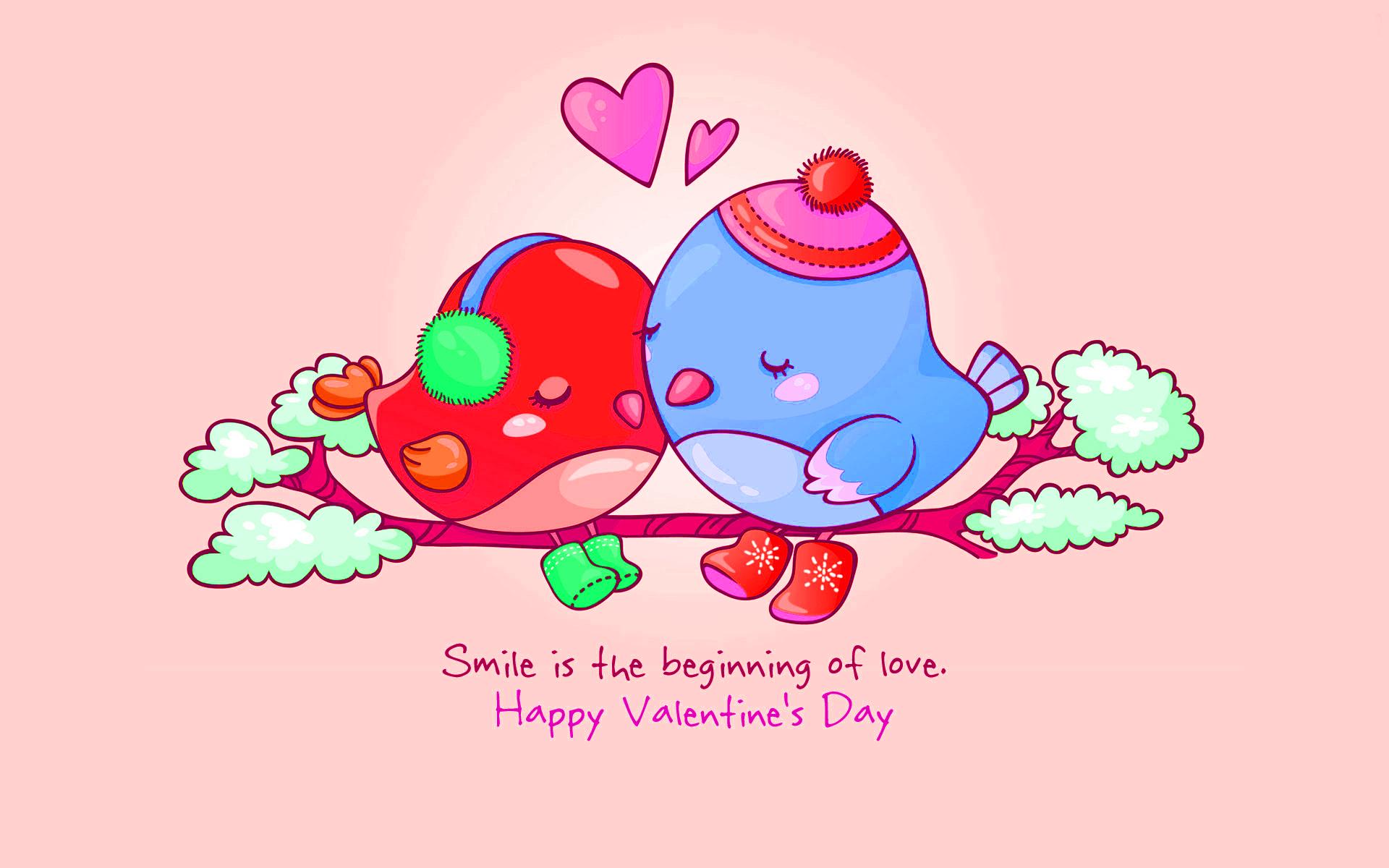 Valentine Love Birds Quotes 13 Background - Hdlovewall.com