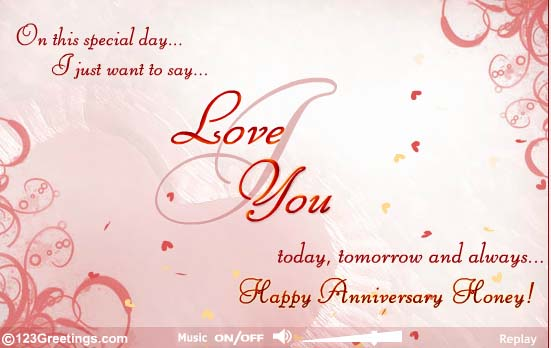 happy anniversary to my wife cards