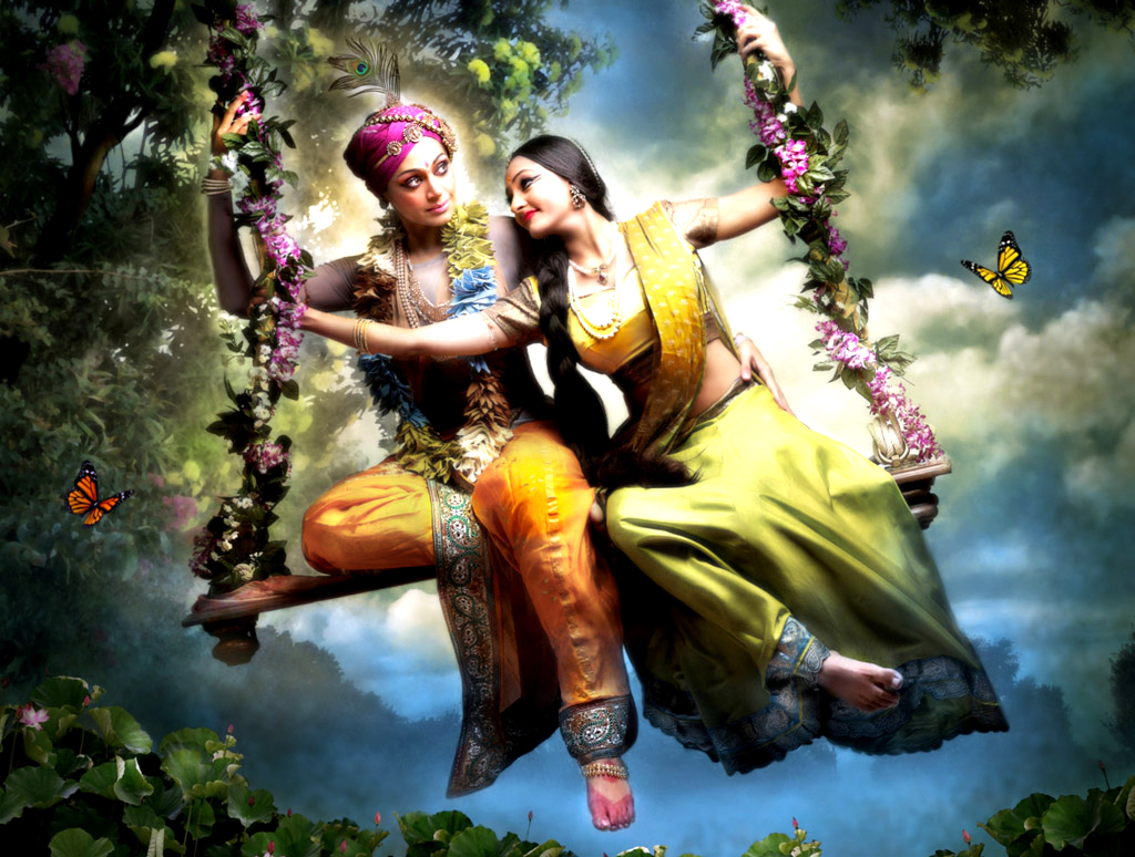 love for krishna Love picture quotes, radhanath swami when there is love in our heart, only love will come out love picture quotes, radhanath swami love is the process of being conquered and to conquer.