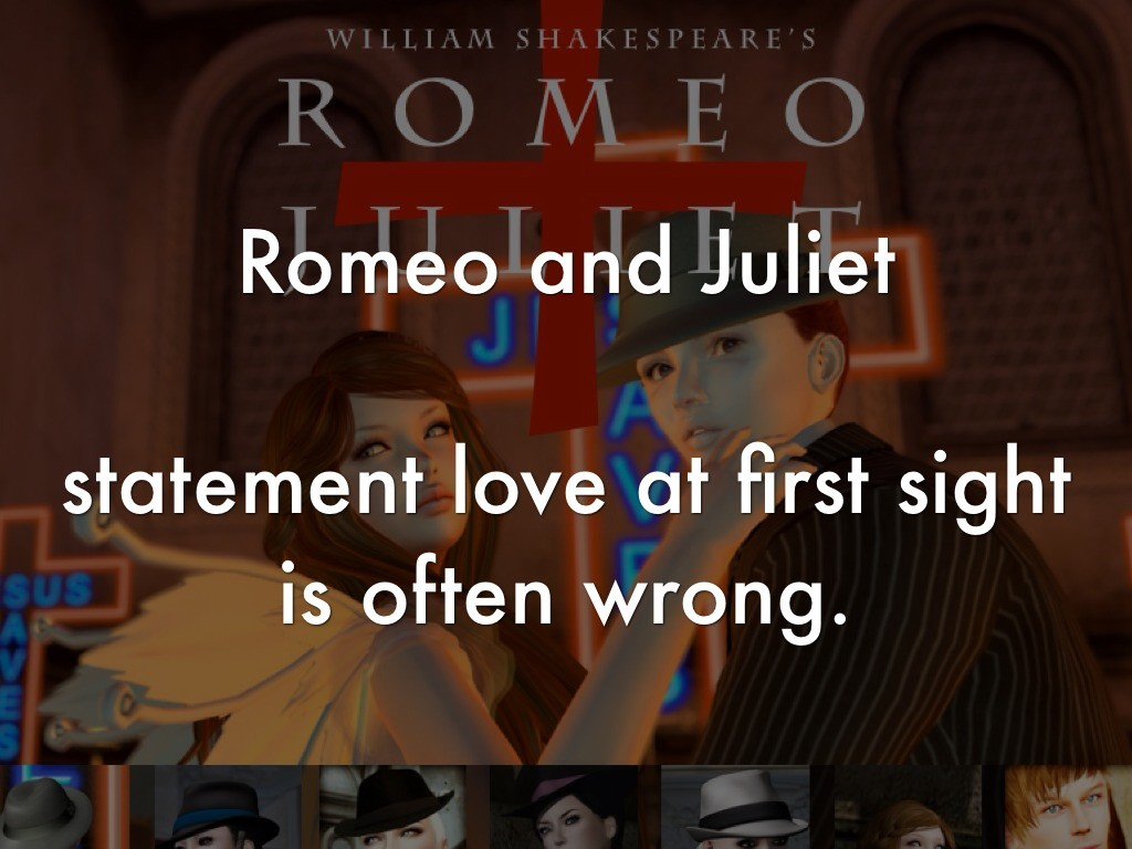 thesis statement on romeo and juliet