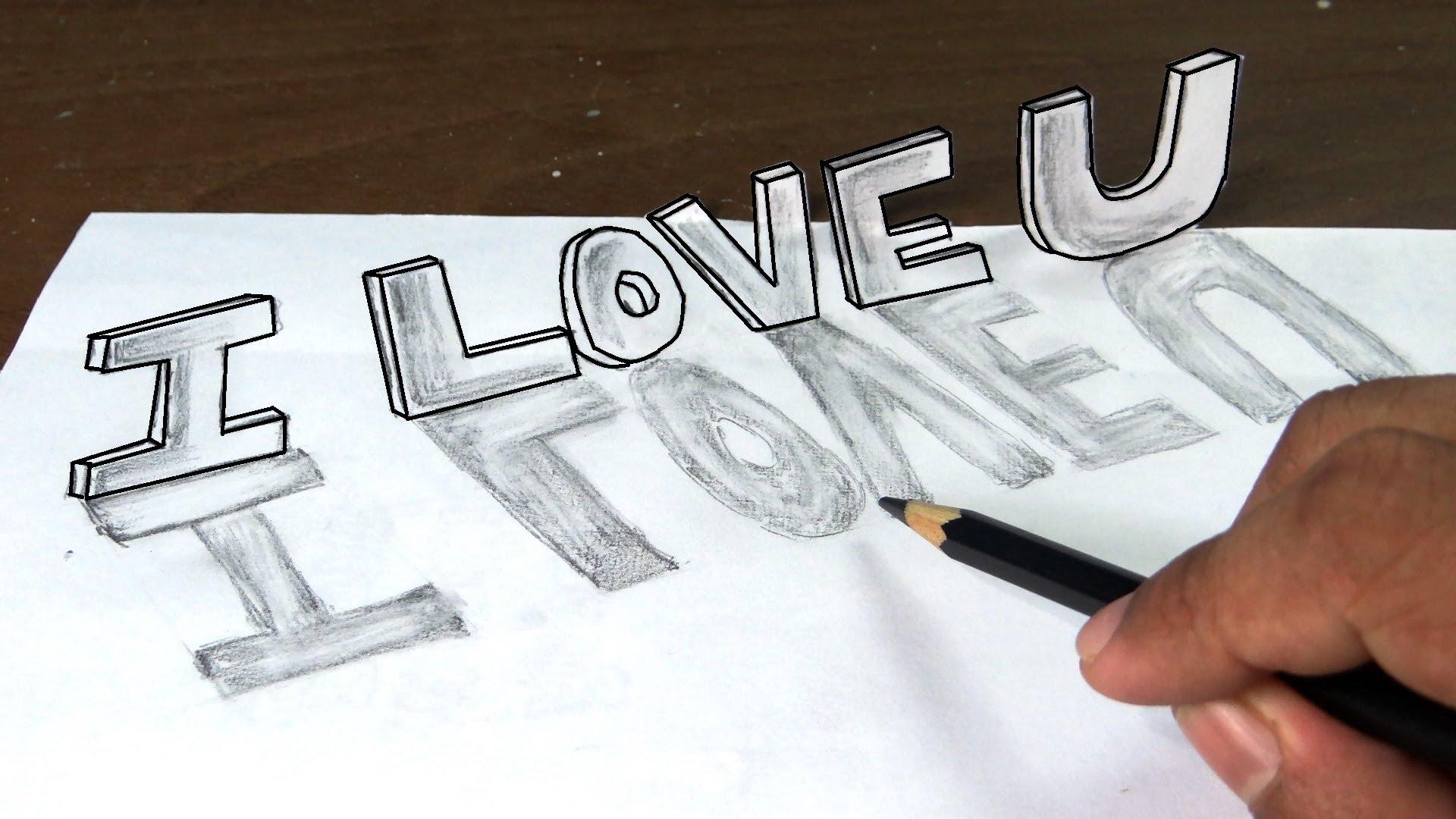 3d Love Drawing 31 Cool Wallpaper Hdlovewall Com