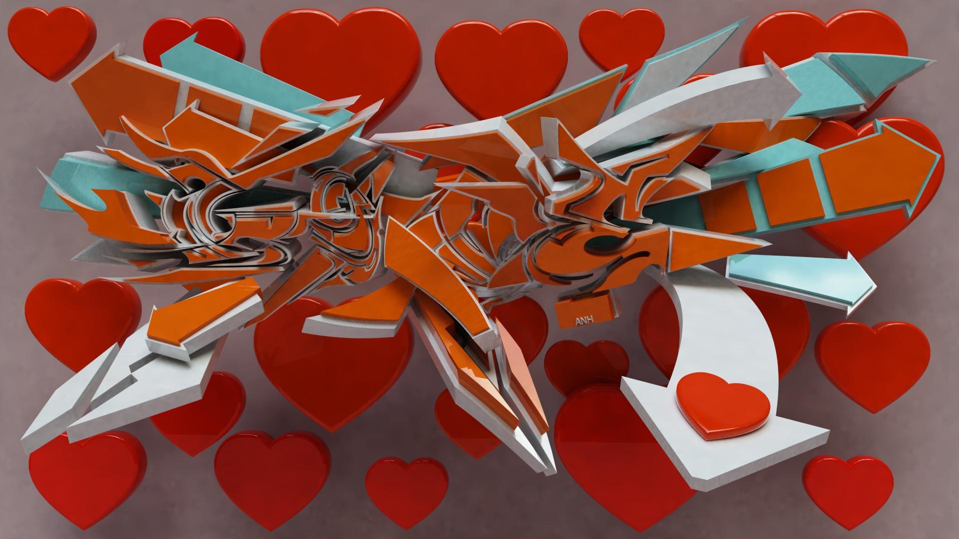 3d Love Art 9 Desktop Background Hdlovewall Com