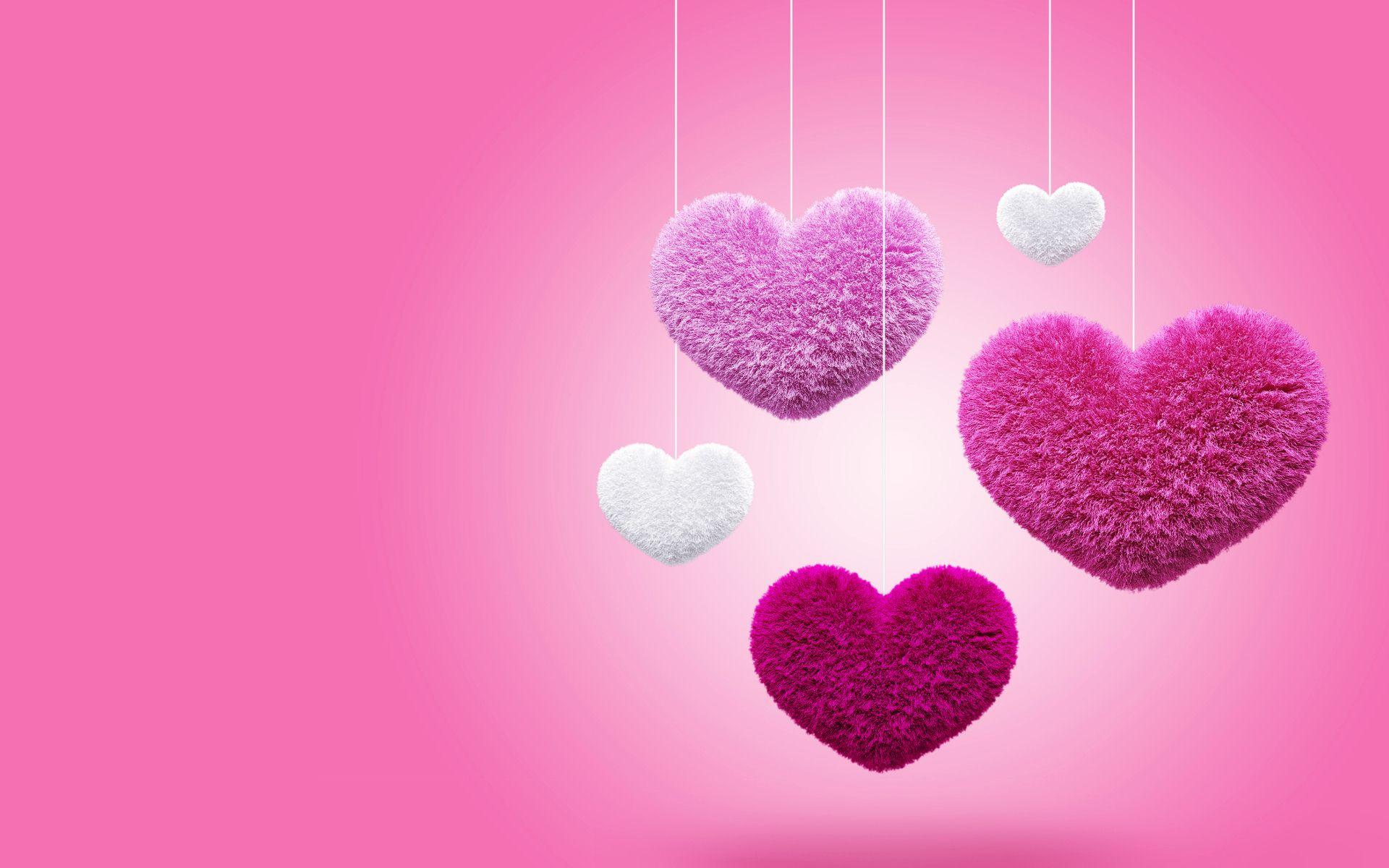 3D Love Heart 17 High Resolution Wallpaper
