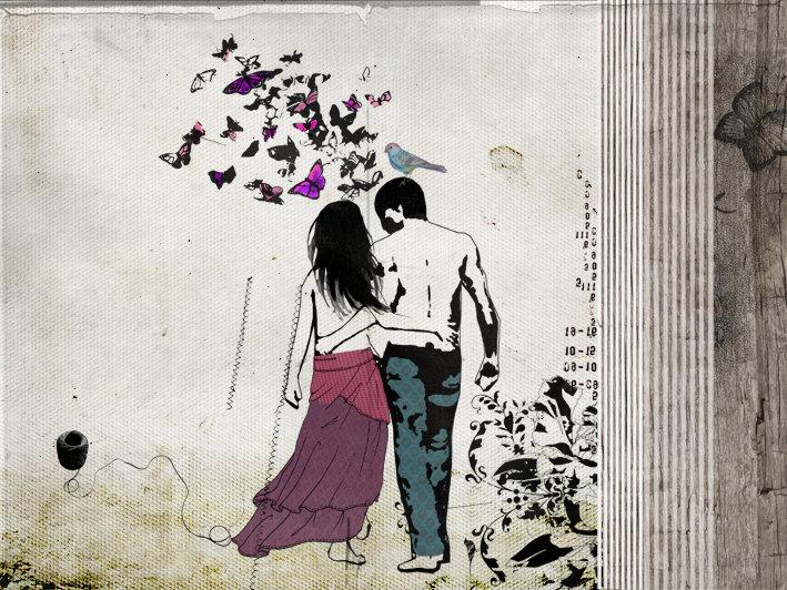 Romantic Love Drawings 19 Wide Wallpaper Hdlovewall Com
